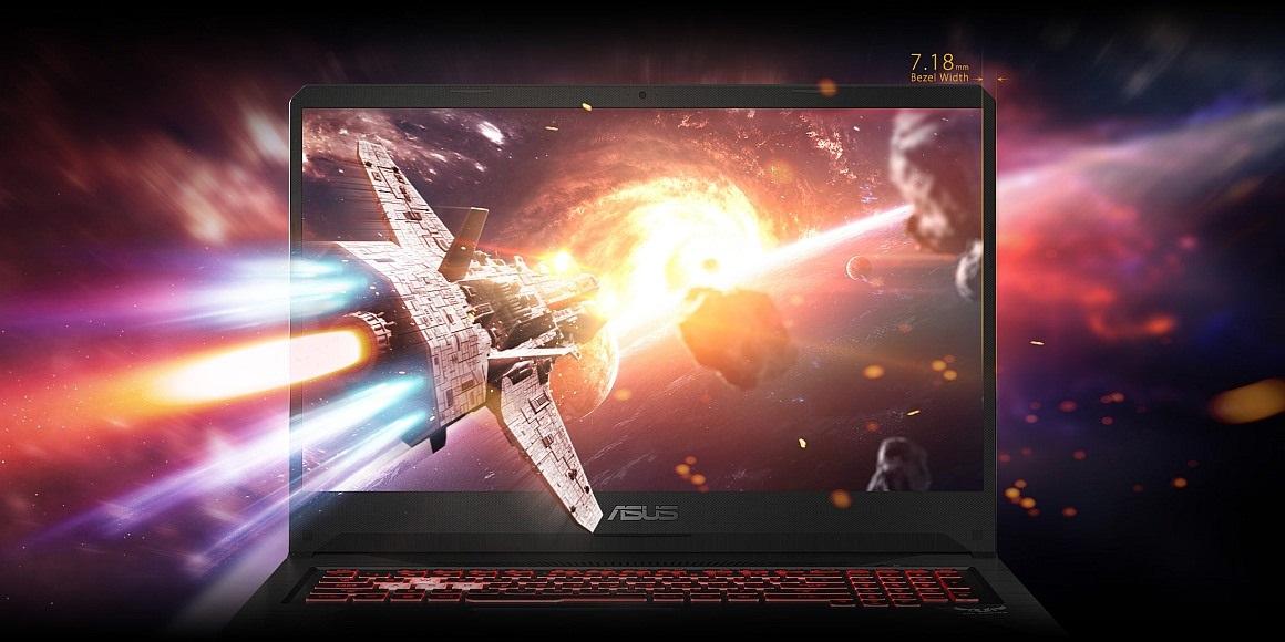 ASUS TUF Gaming FX505 s NanoEdge displejem