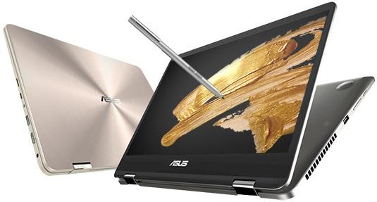 Asus ZenBook Flip 14 otevřený a zavřený