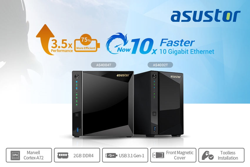 Asustor AS4004T a AS4002T