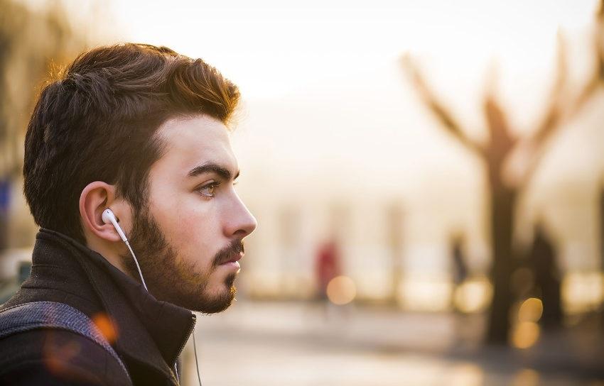 muž, člověk, sluchátka