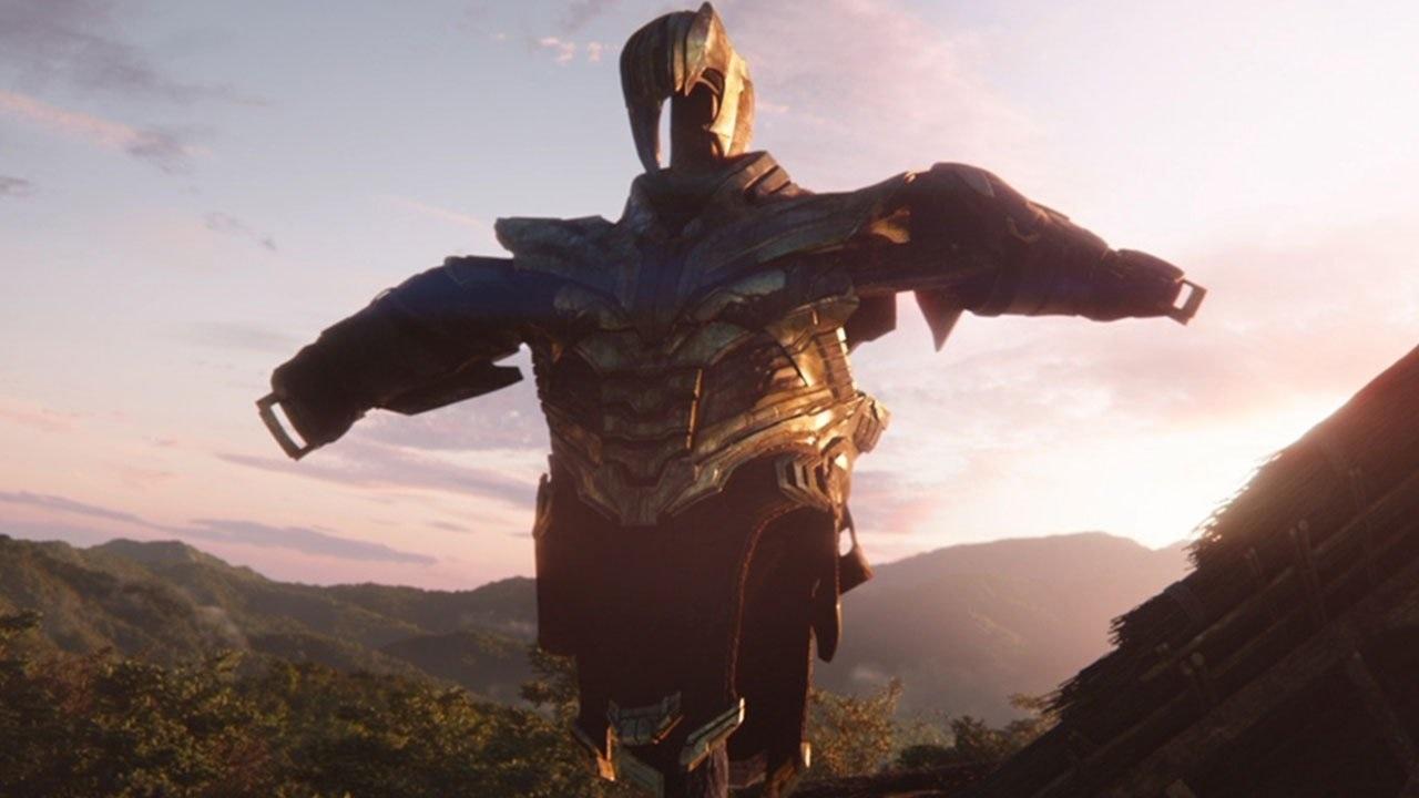 Avengers: Endgame; screenshot: Thanos brnění