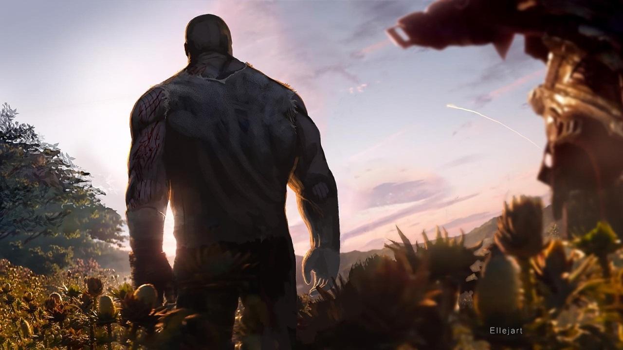 Avengers: Endgame; screenshot: Thanos na farmě