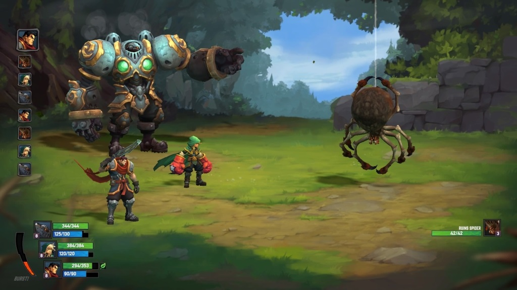 Battle Chasers: Nightwar; Gameplay: Burst bar