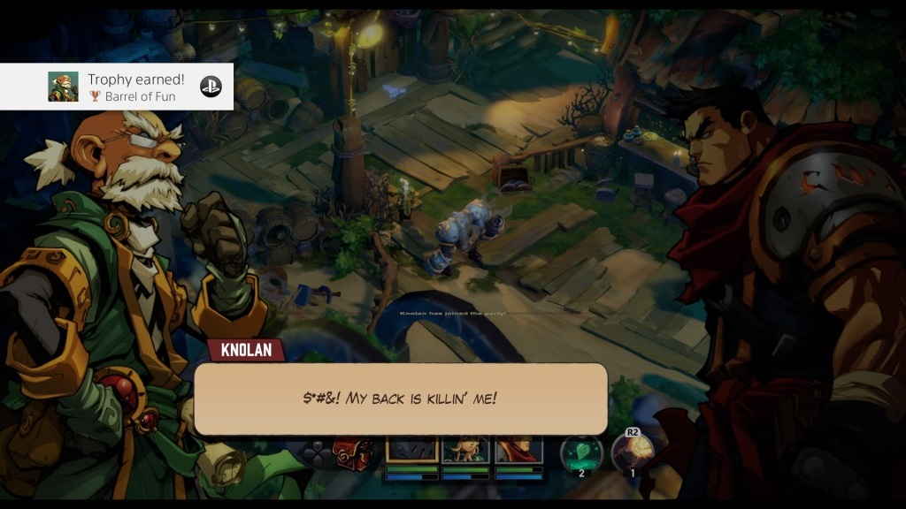 Battle Chasers: Nightwar; Gameplay: Knolan, Garrison