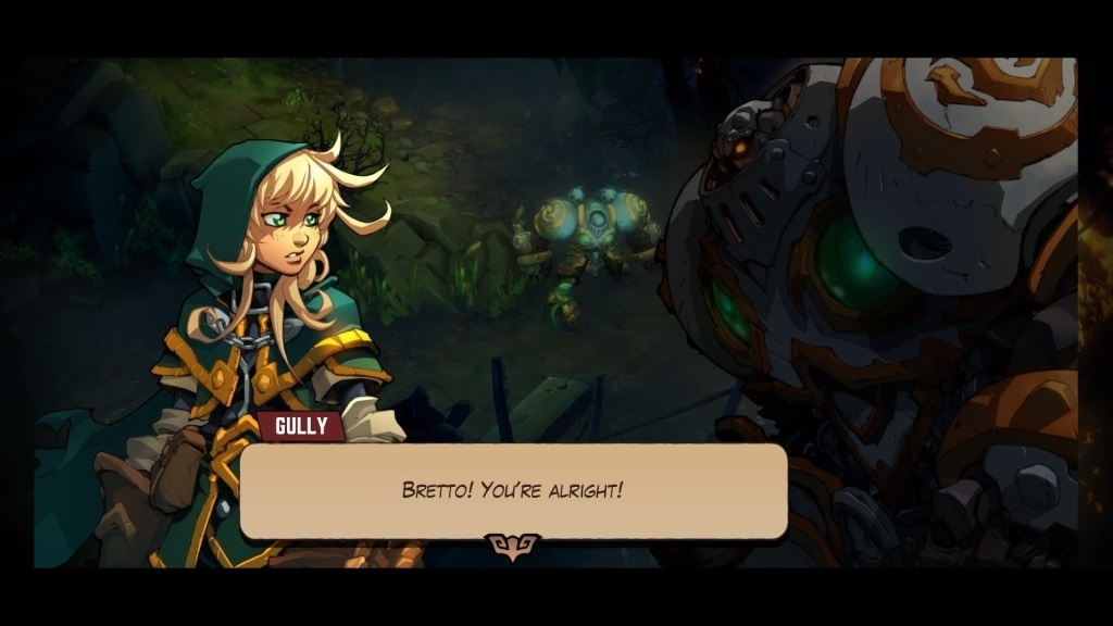 Battle Chasers: Nightwar; Gameplay: Gully, Calibretto