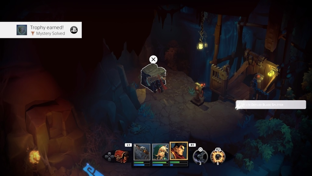 Battle Chasers: Nightwar; Gameplay: puzzle