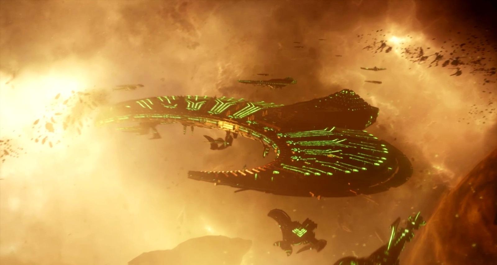 Battlefleet Gothic: Armada II; screenshot: Necrons