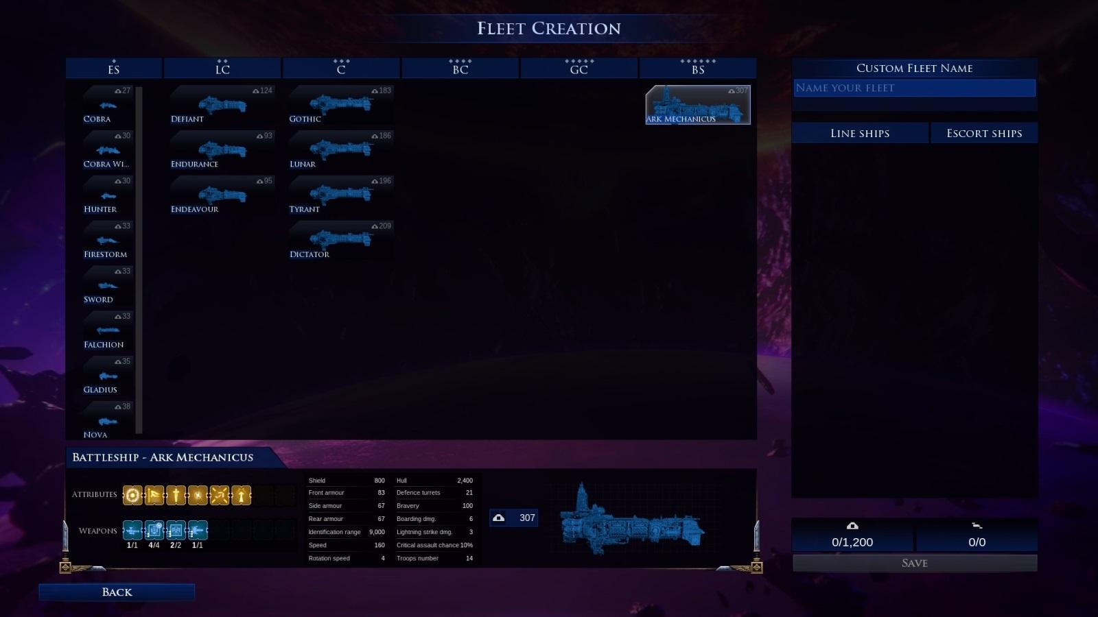 Battlefleet Gothic: Armada II; gameplay: Adeptus Mechanicus