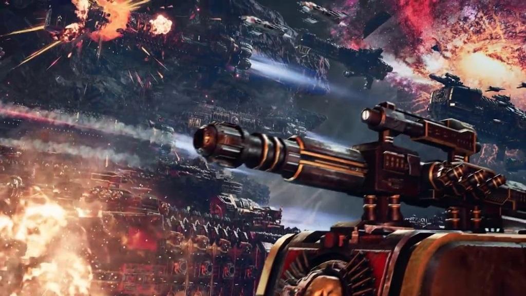Battlefleet Gothic: Armada II; Wallpaper: bitva, exploze