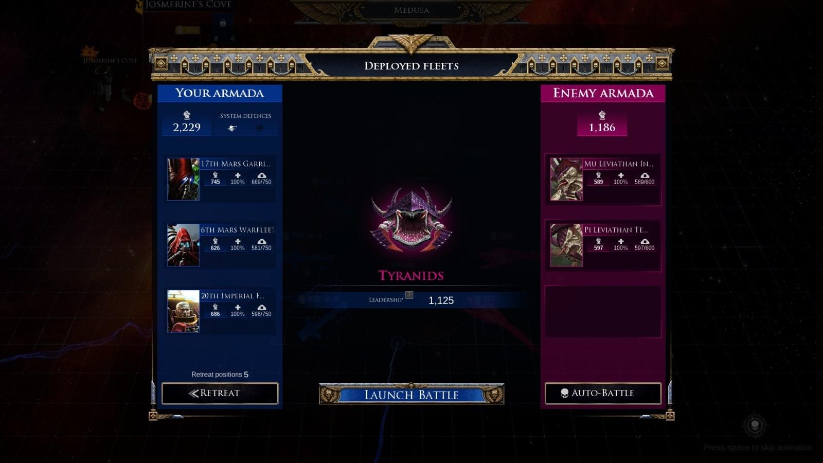 Battlefleet Gothic: Armada II; gameplay: bitva