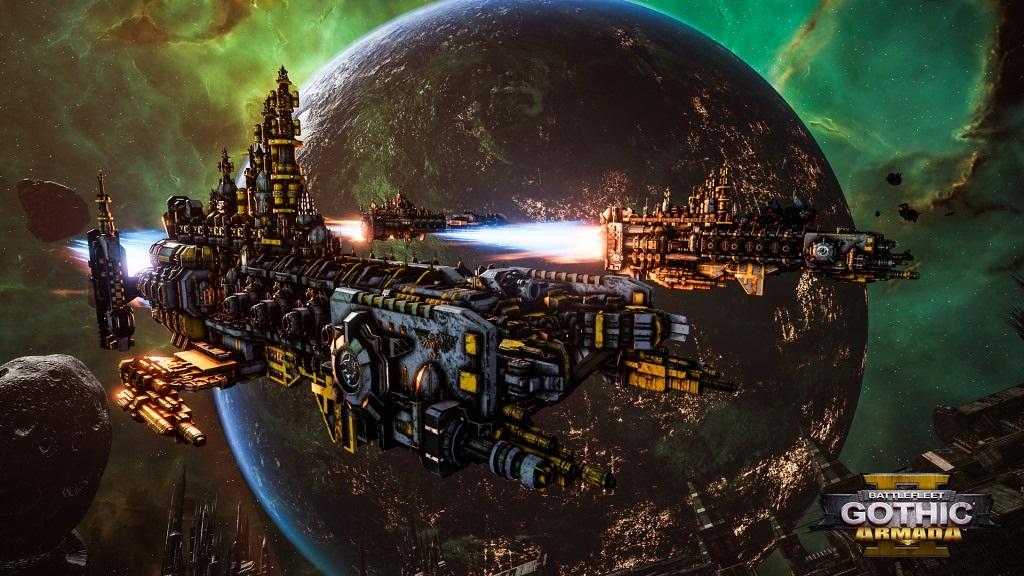 Battlefleet Gothic: Armada II; screenshot: flotila