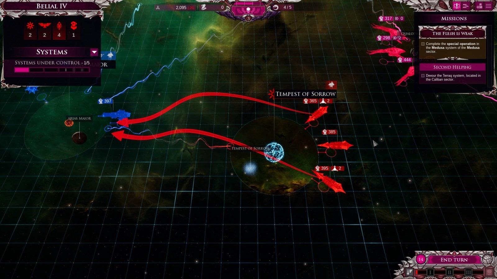 Battlefleet Gothic: Armada II; gameplay: invaze