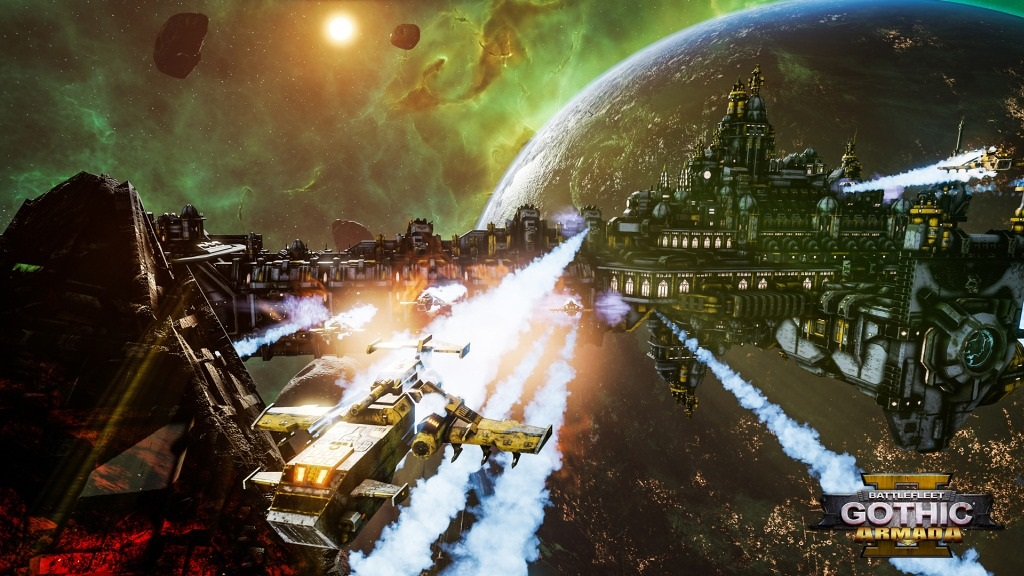 Battlefleet Gothic: Armada II; screenshot: křižník