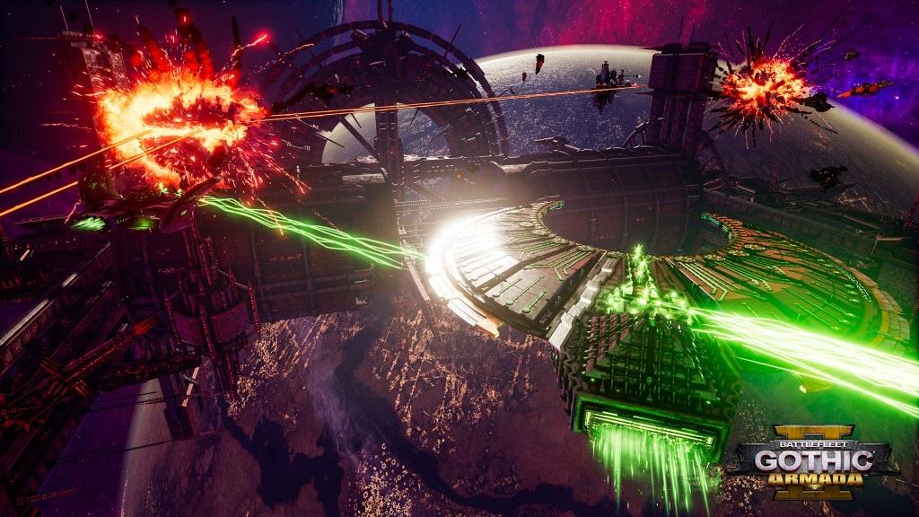 Battlefleet Gothic: Armada II; screenshot: Necron