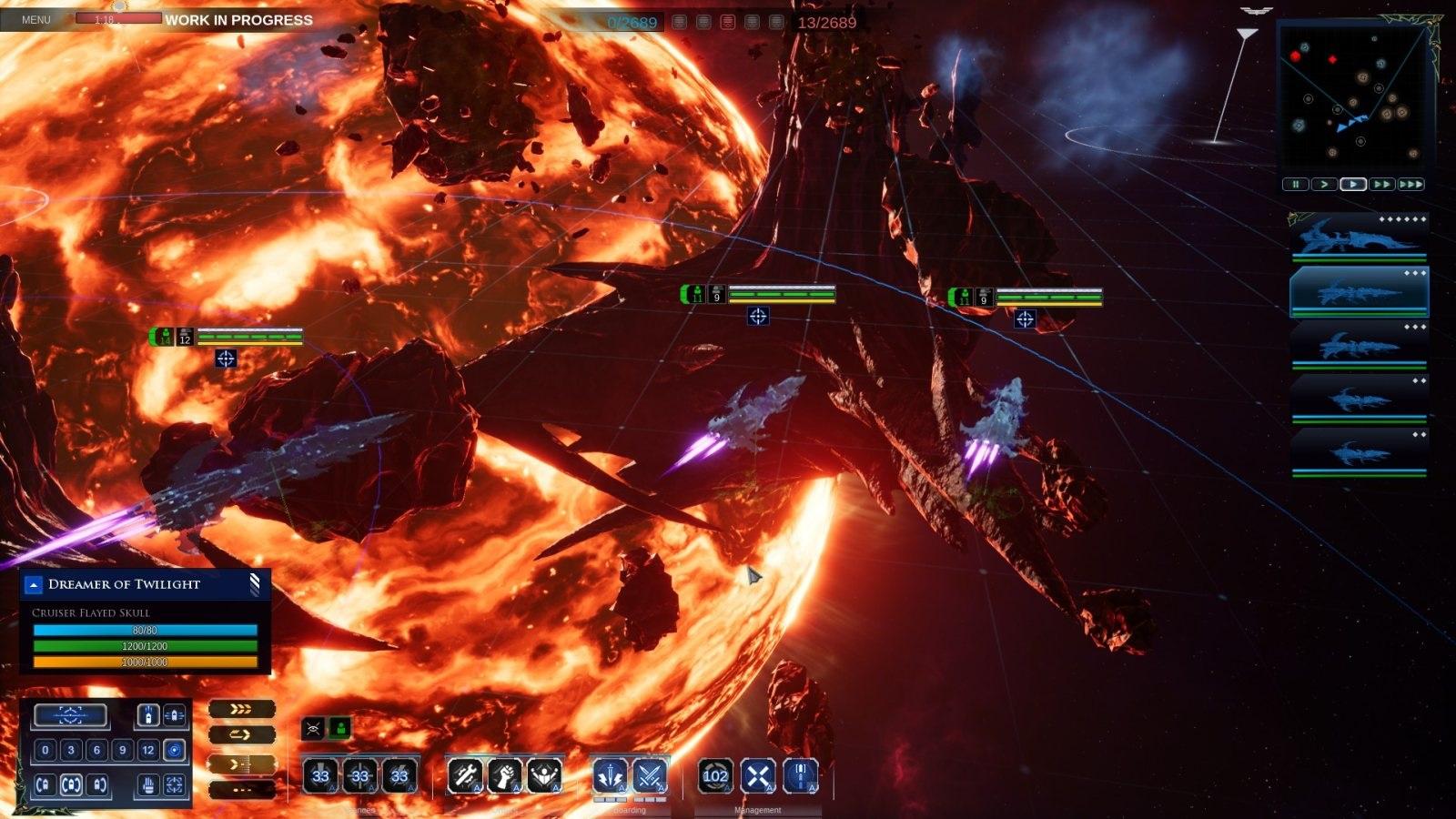 Battlefleet Gothic: Armada II; gameplay: neviditelnost