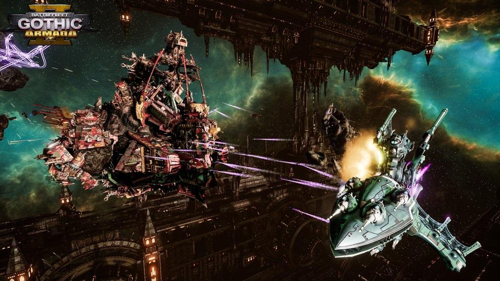 Battlefleet Gothic: Armada II; screenshot: orkové