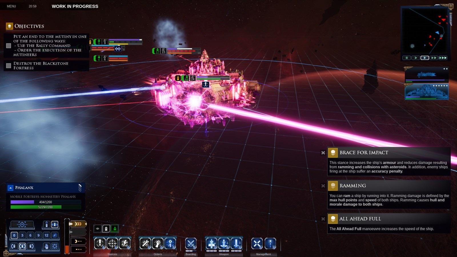 Battlefleet Gothic: Armada II; gameplay: pevnost
