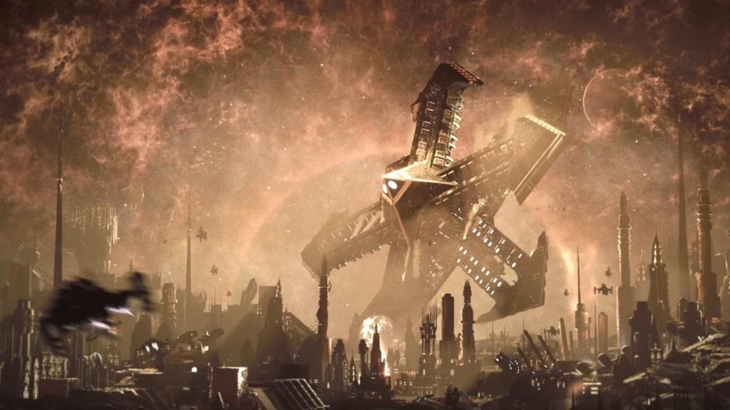 Battlefleet Gothic: Armada II; Wallpaper: planeta, havárie