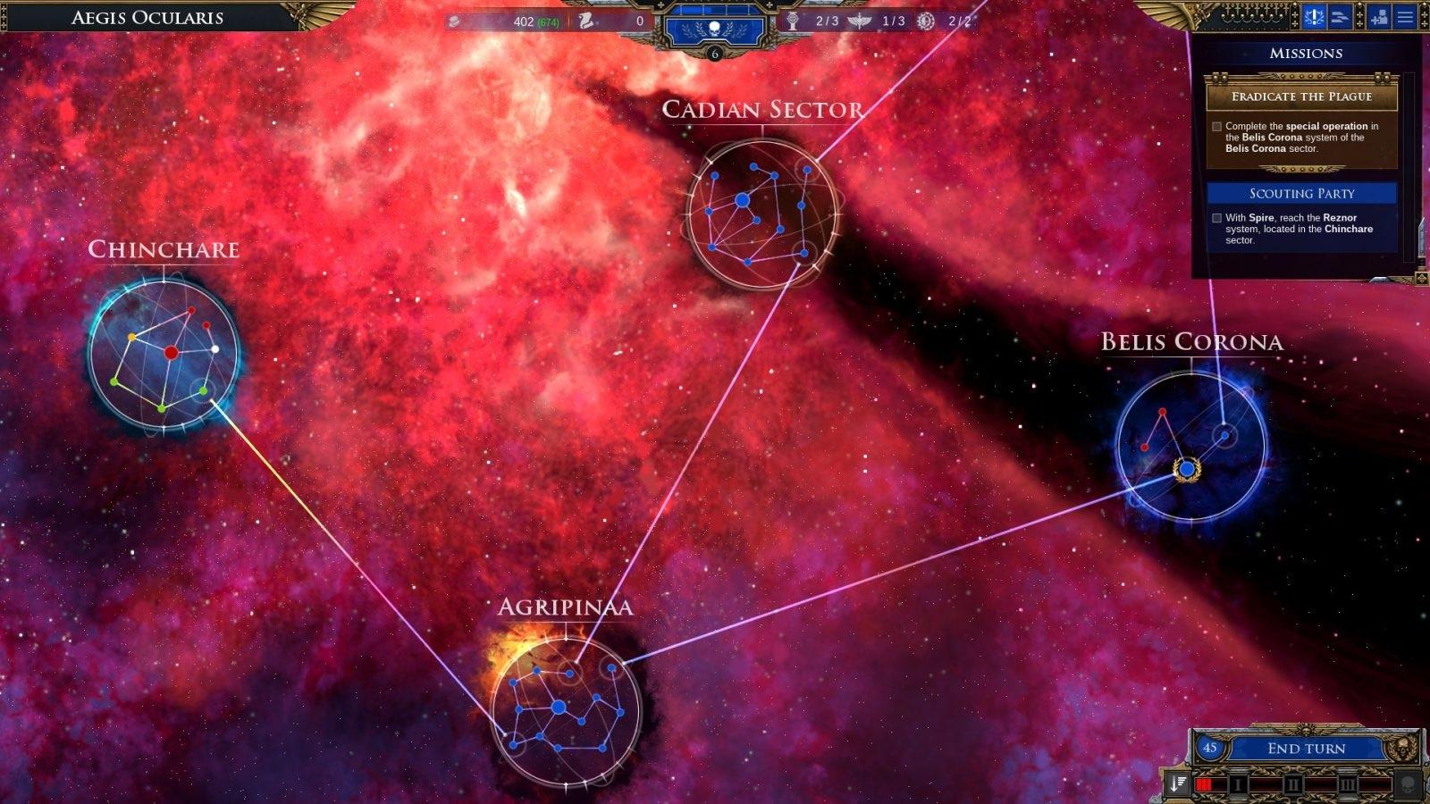 Battlefleet Gothic: Armada II; gameplay: sektory