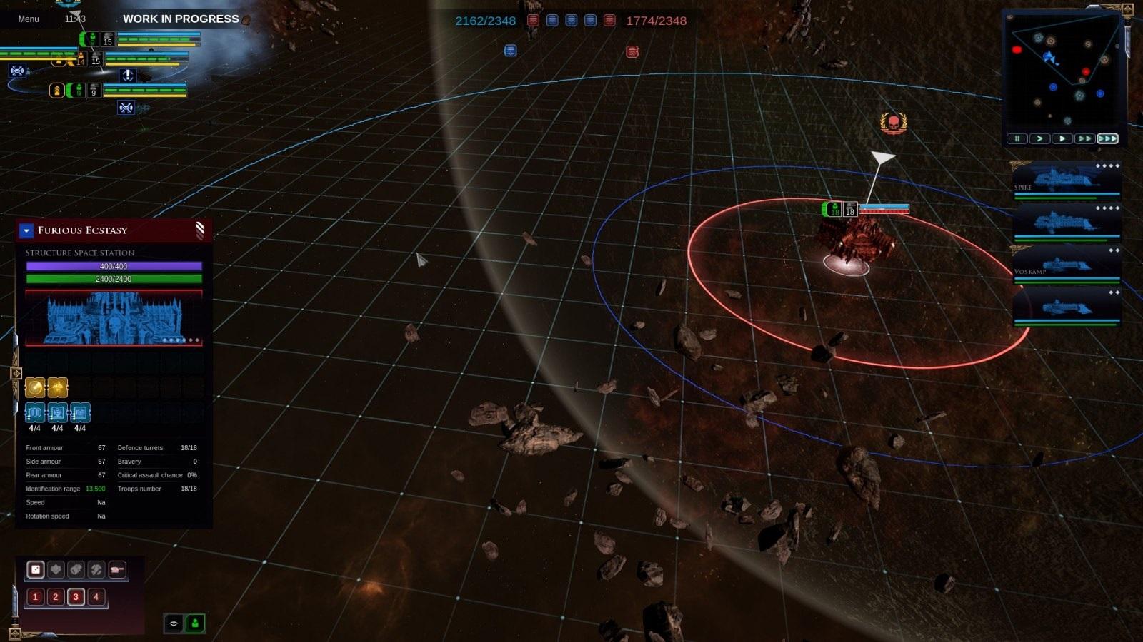 Battlefleet Gothic: Armada II; gameplay: stanice