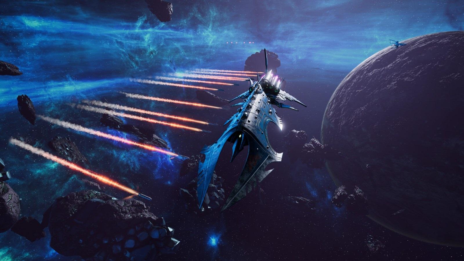 Battlefleet Gothic: Armada II; screenshot: torpéda