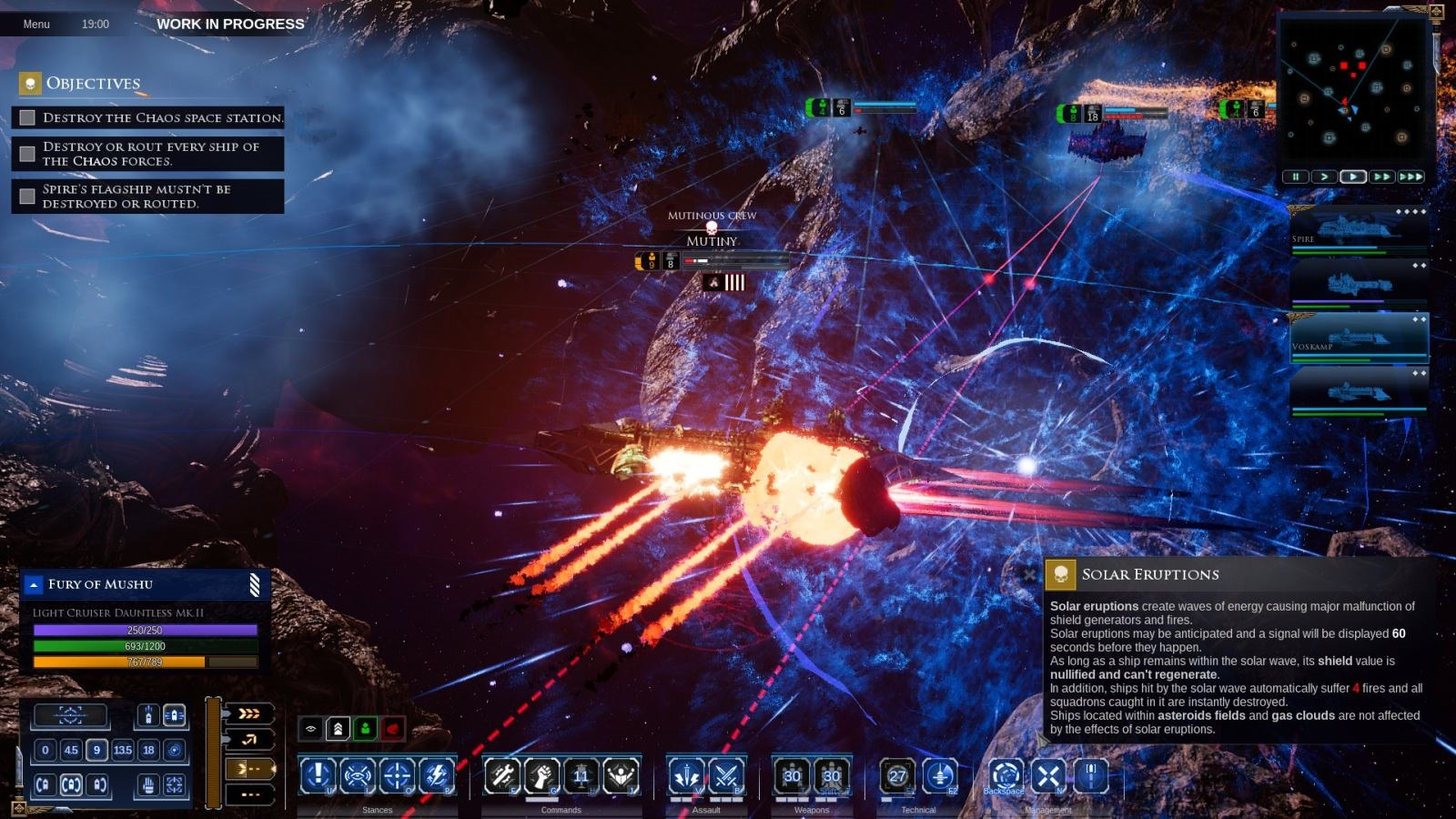 Battlefleet Gothic: Armada II; gameplay: torpéda