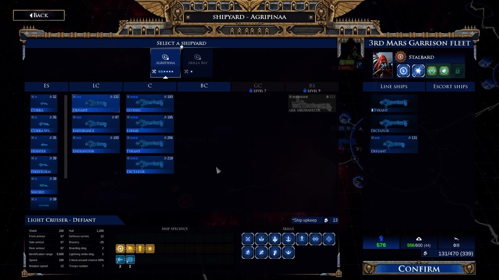 Battlefleet Gothic: Armada II; gameplay: verbování