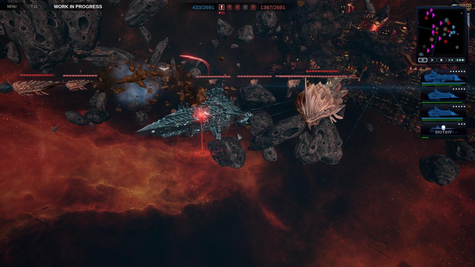 Battlefleet Gothic: Armada II; gameplay: vesmírné monstrum