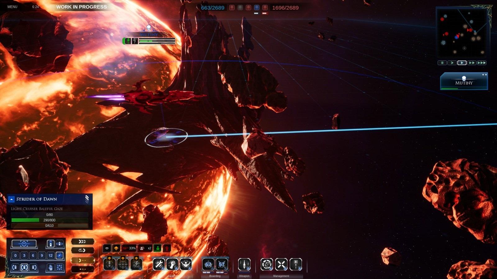 Battlefleet Gothic: Armada II; gameplay: vzpoura