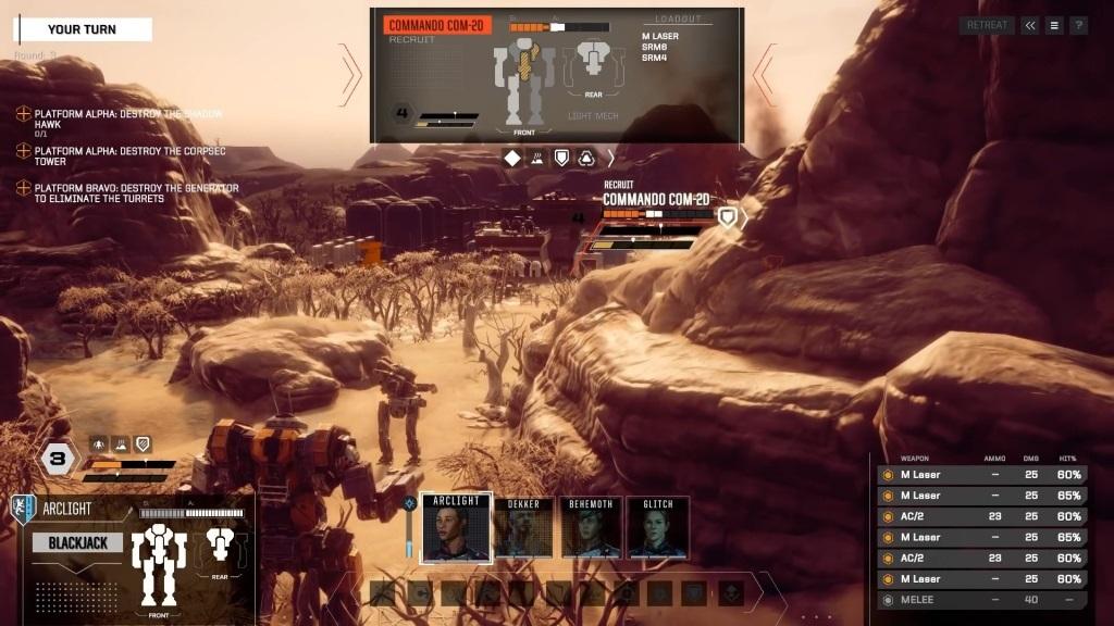 Nejlepší hry; BattleTech; screenshot: komplexnost