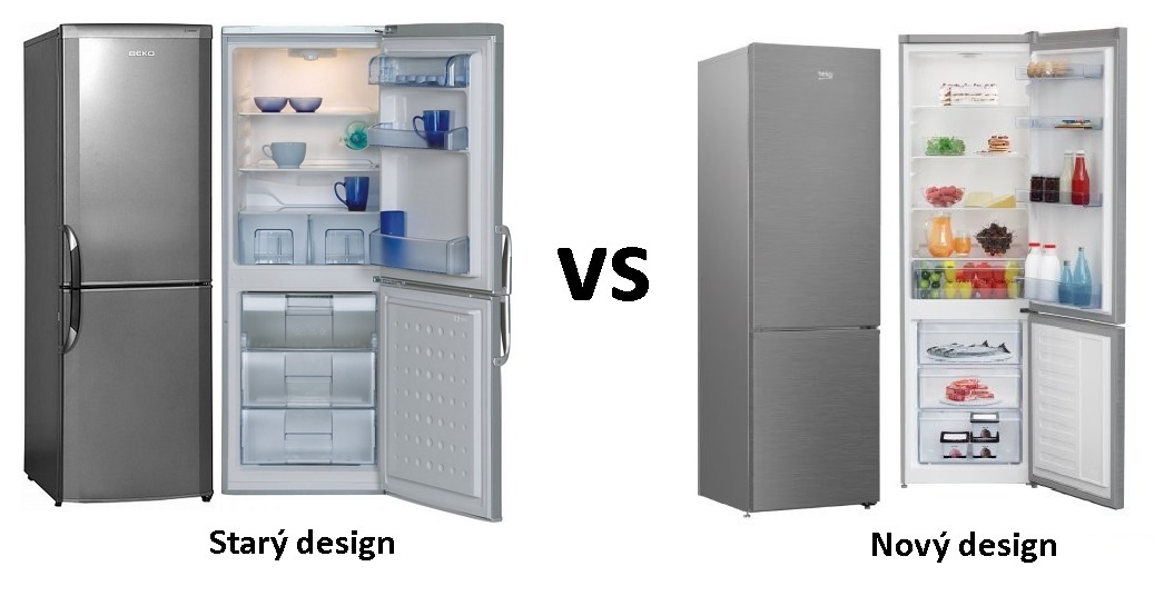 BEKO - chladnička, starý a nový design