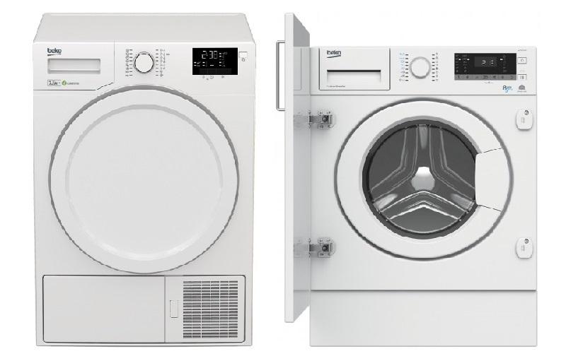 BEKO - sušička a vestavná pračka se sušičkou