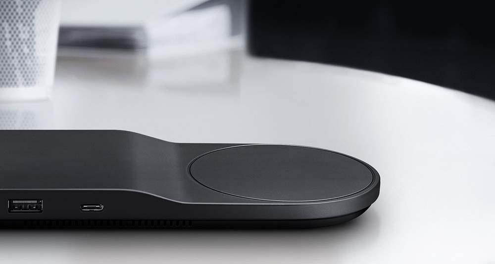 Bezdrátová nabíječka Samsung Tray EP-PA710T a USB na boku