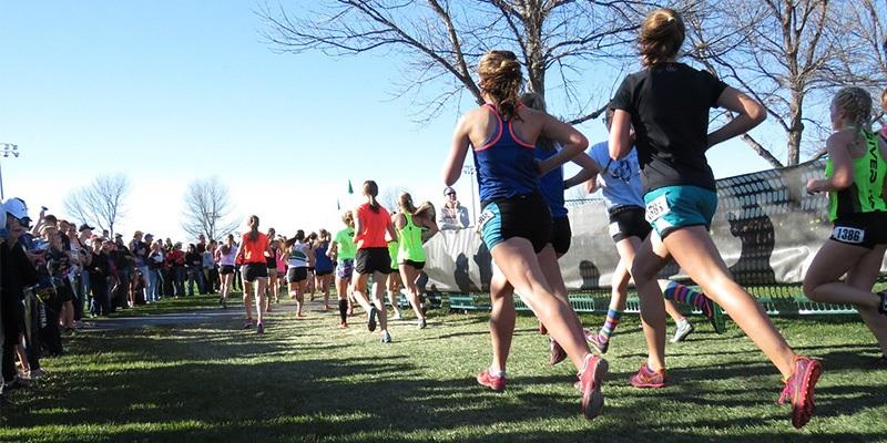 Běžkyně v parku