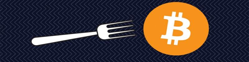 vidlička; bitcoin; hard fork