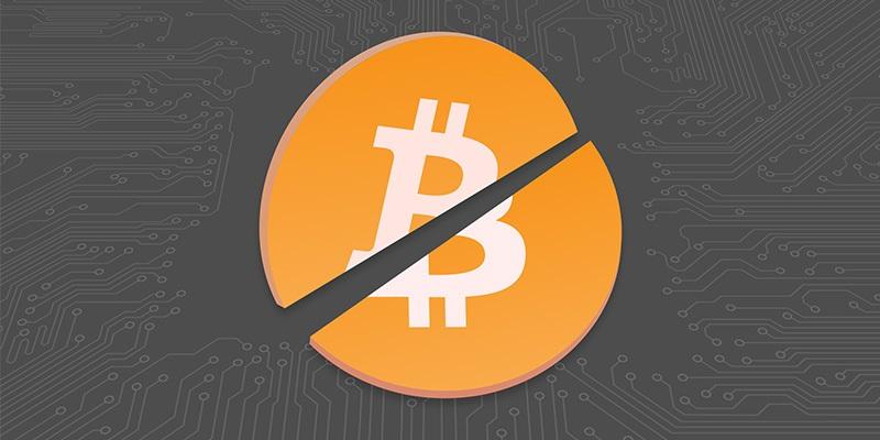 bitcoin rozdělení; bitcoin logo; fork