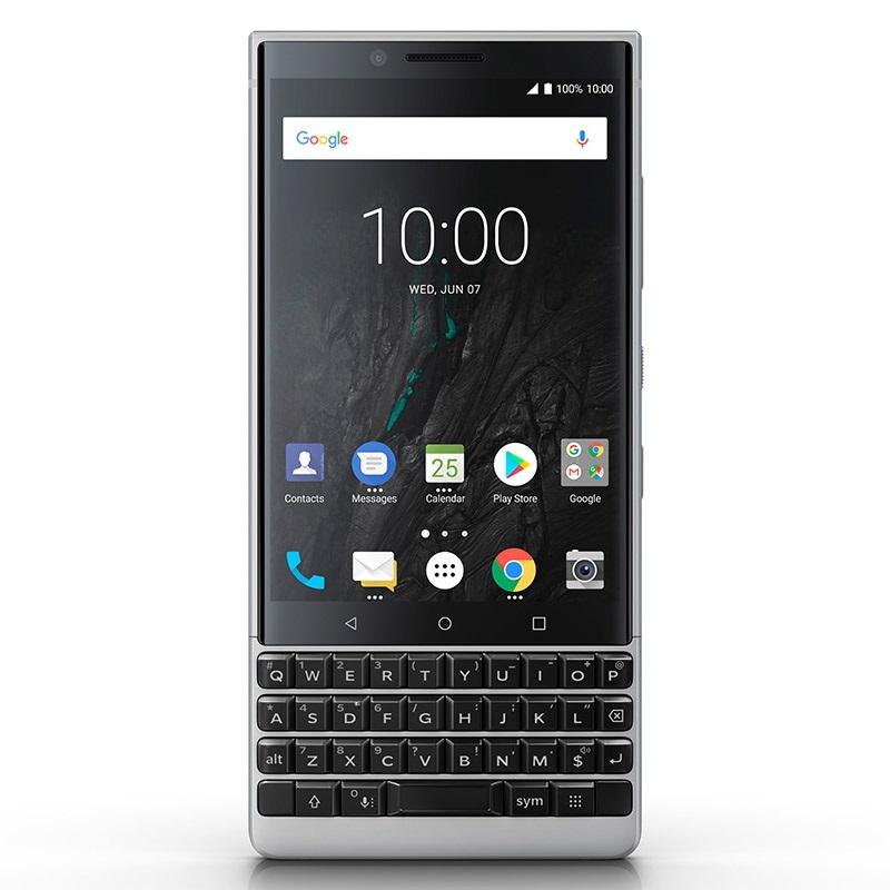 BlackBerry Key2, stříbrná varianta, displej
