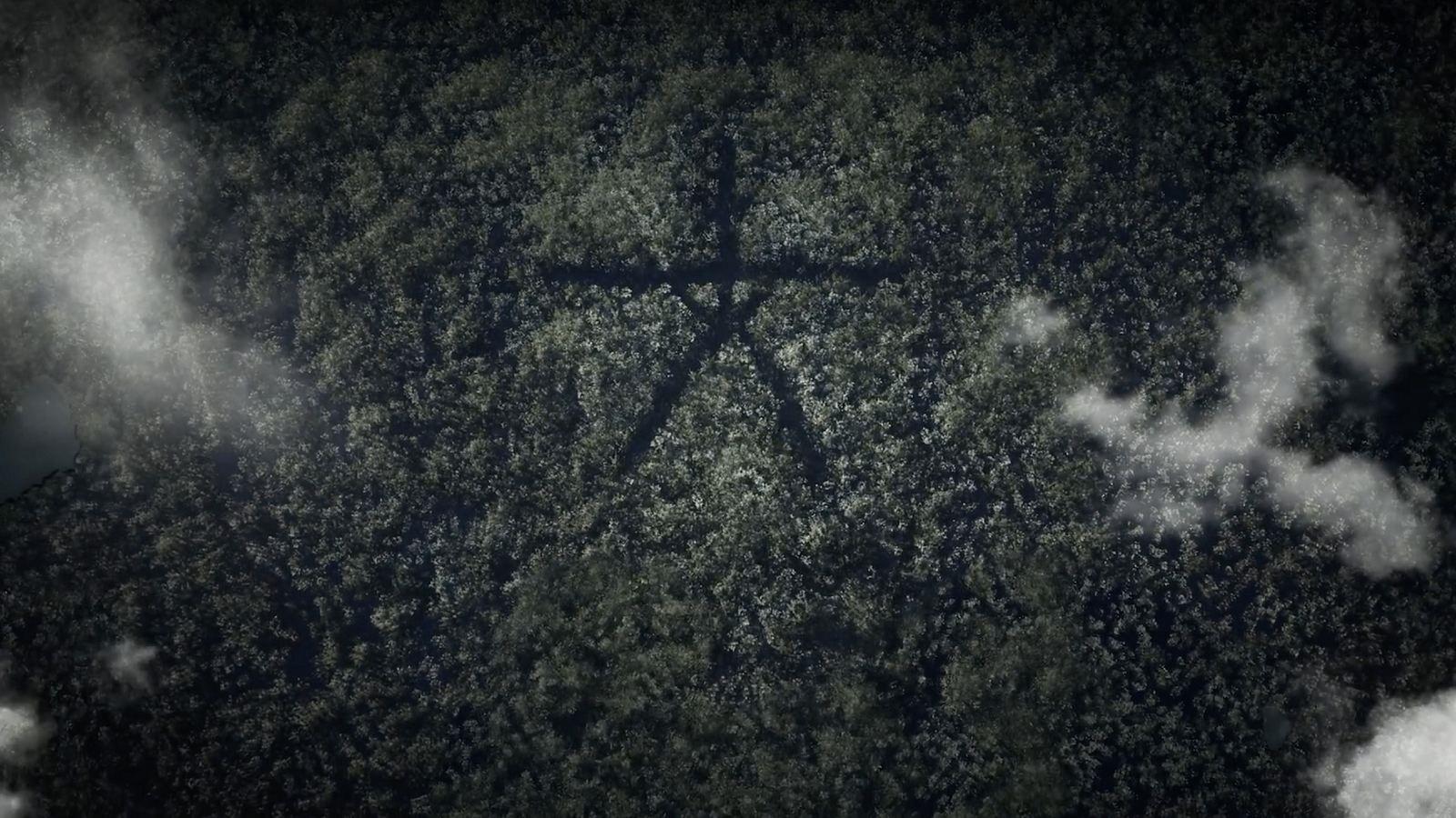 Blair Witch; screenshot: hra se symboly