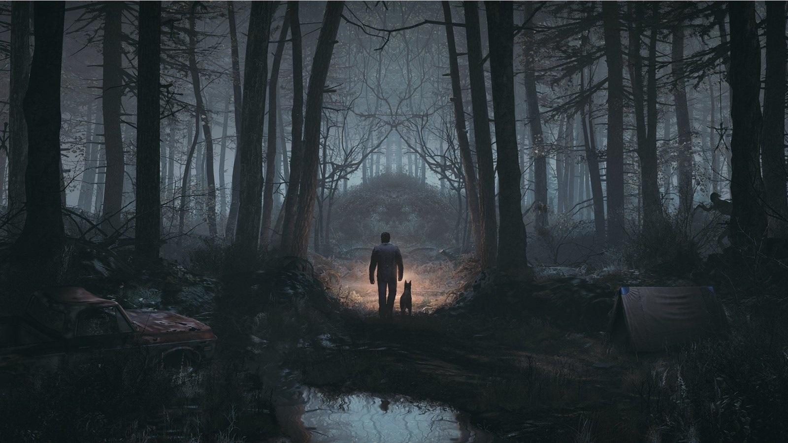 Blair Witch; screenshot: průzkum tábora