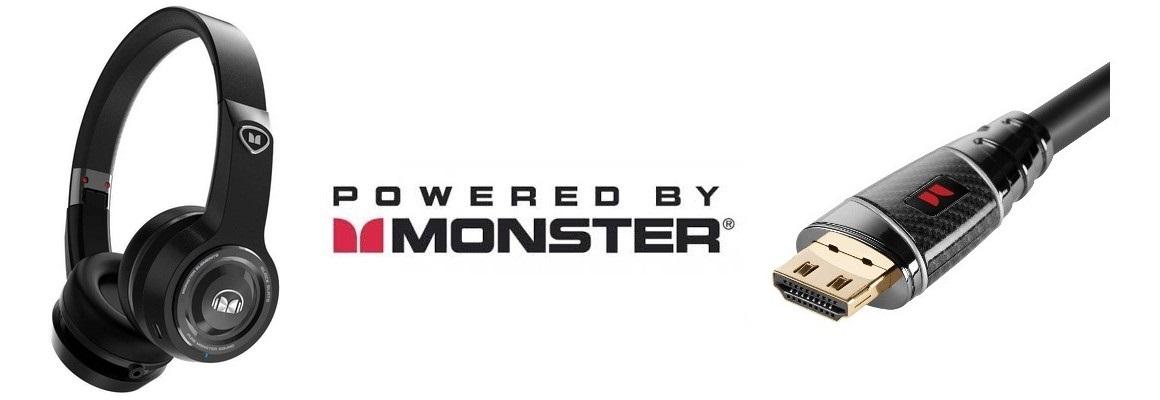 Monster, sluchátka a kabely