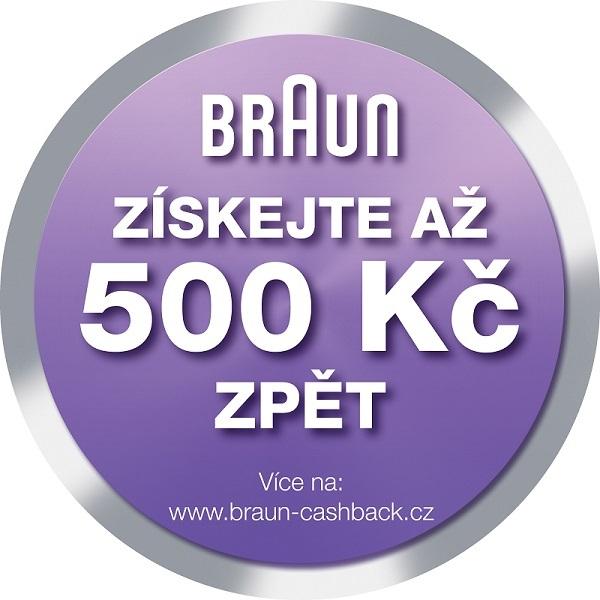 BRAUN akce cashback až 500 Kč