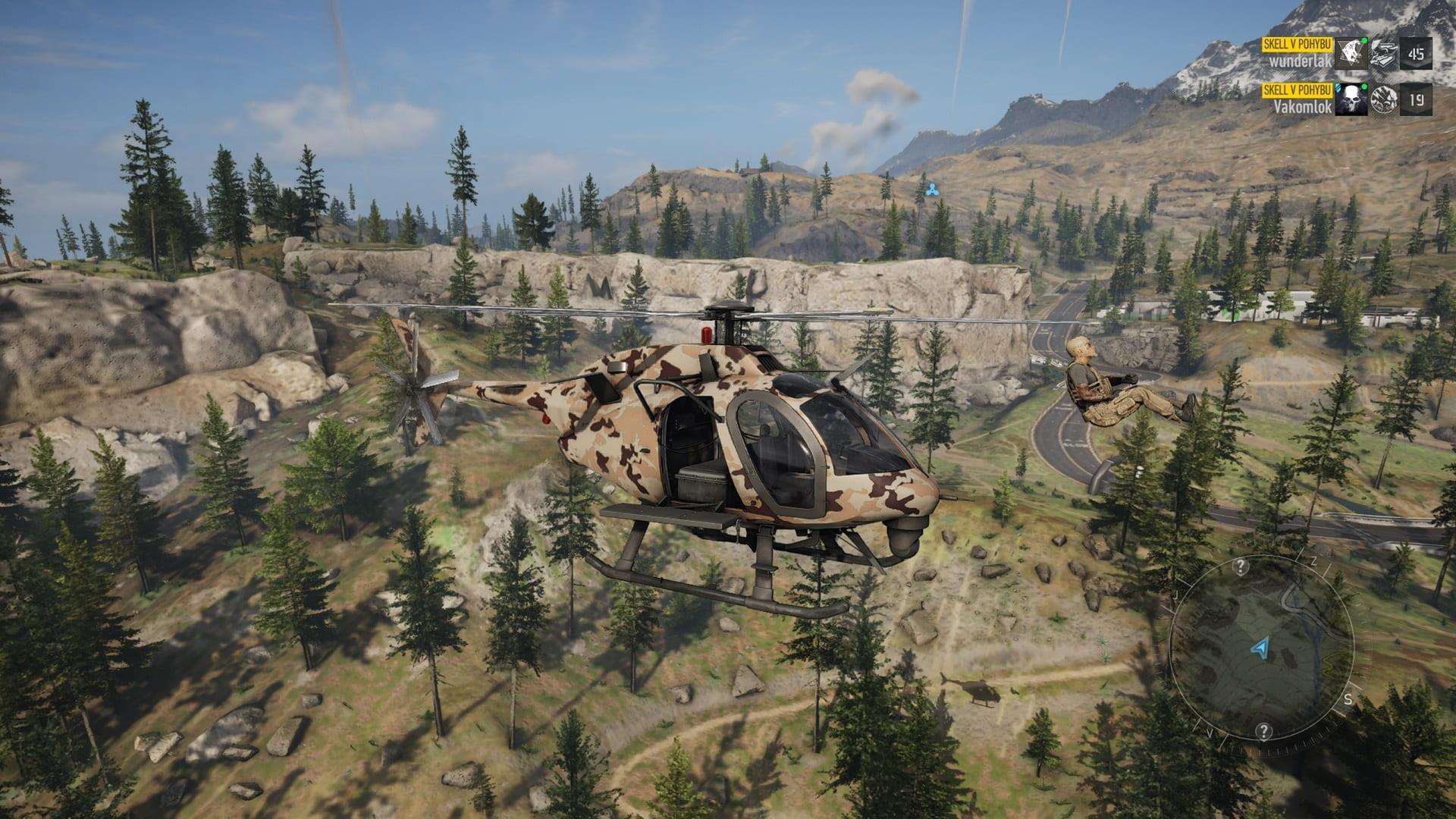 Ghost Recon Breakpoint; gameplay: vrtulník