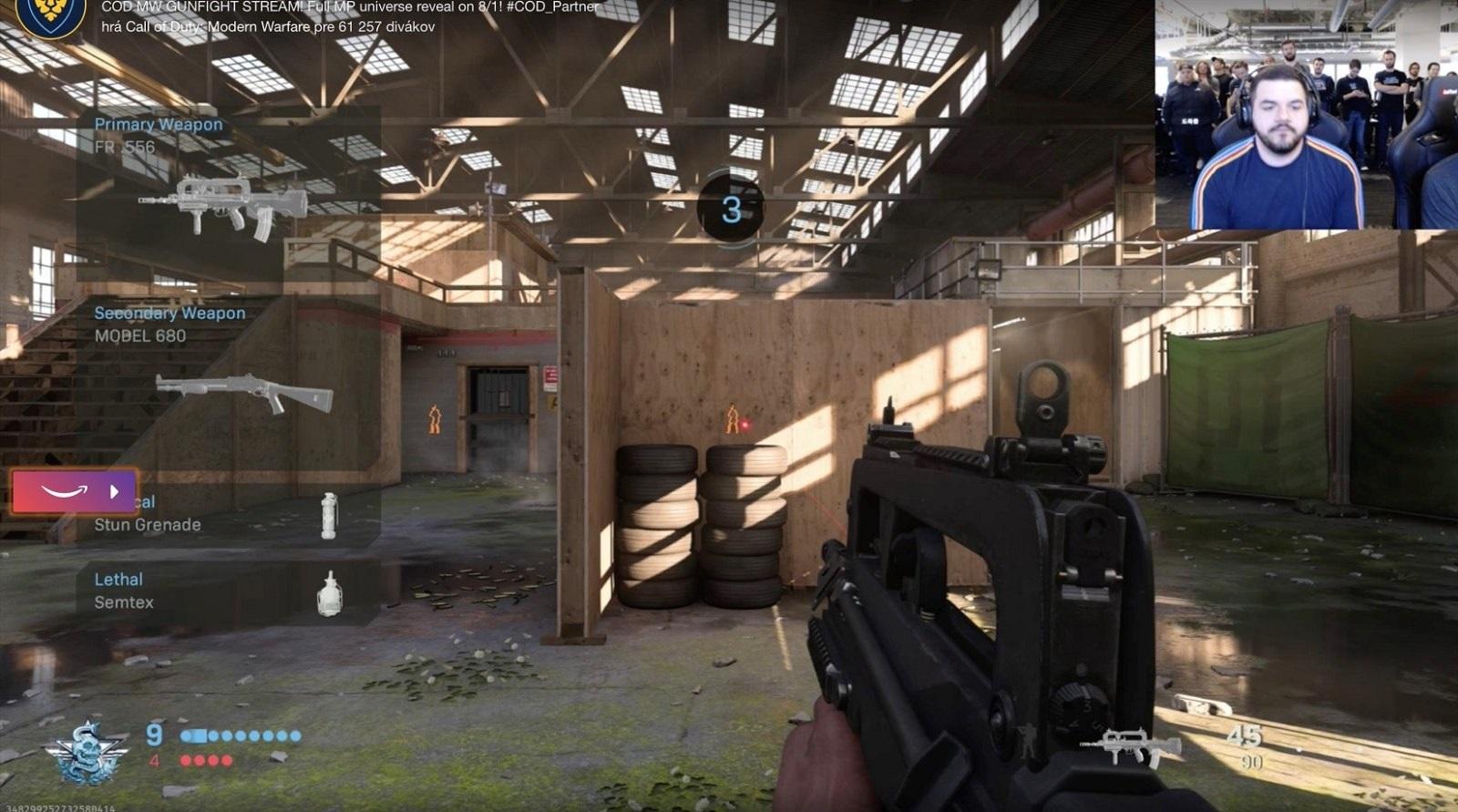 Call of Duty: Modern Warfare; gameplay: twitch stream
