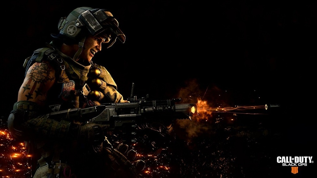 Call of Duty: Black Ops 4; wallpaper: střelba