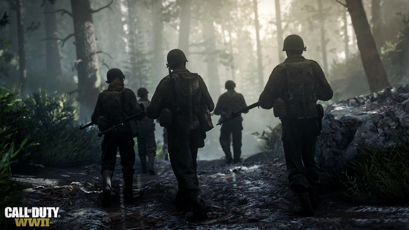 Call of Duty WW2; četa v lese