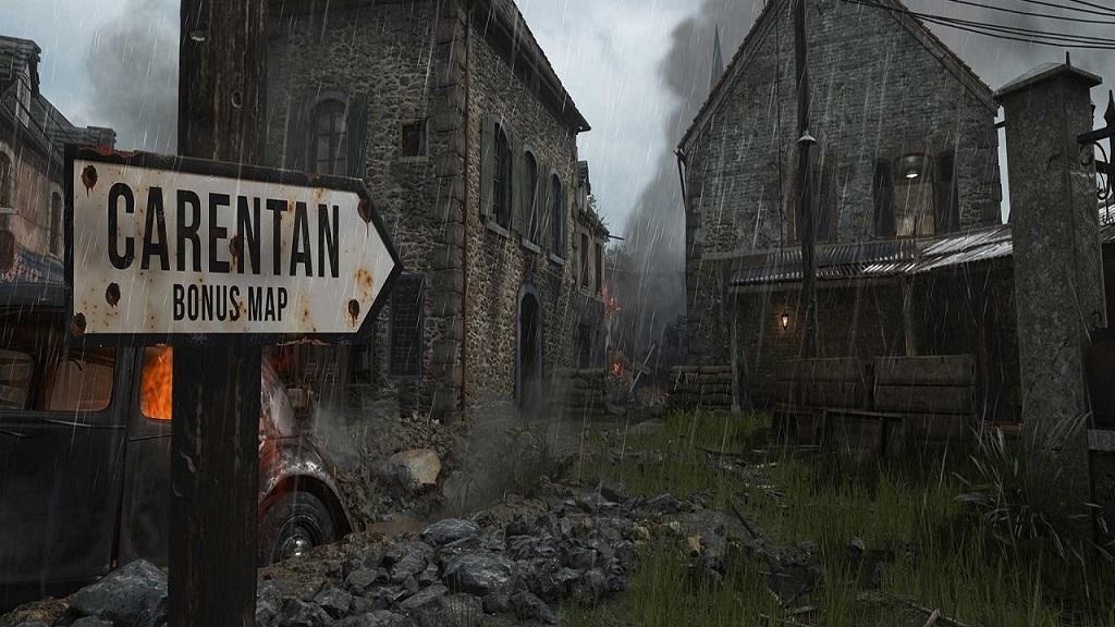 Call of Duty WW2; mapa carentan