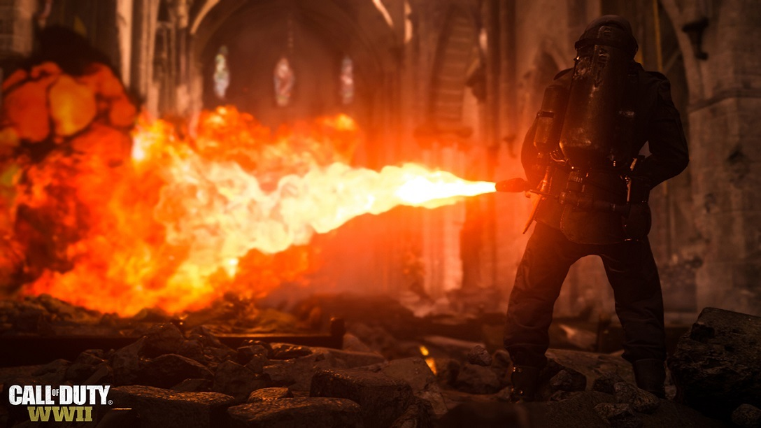 Call of Duty WWII; plamenomet