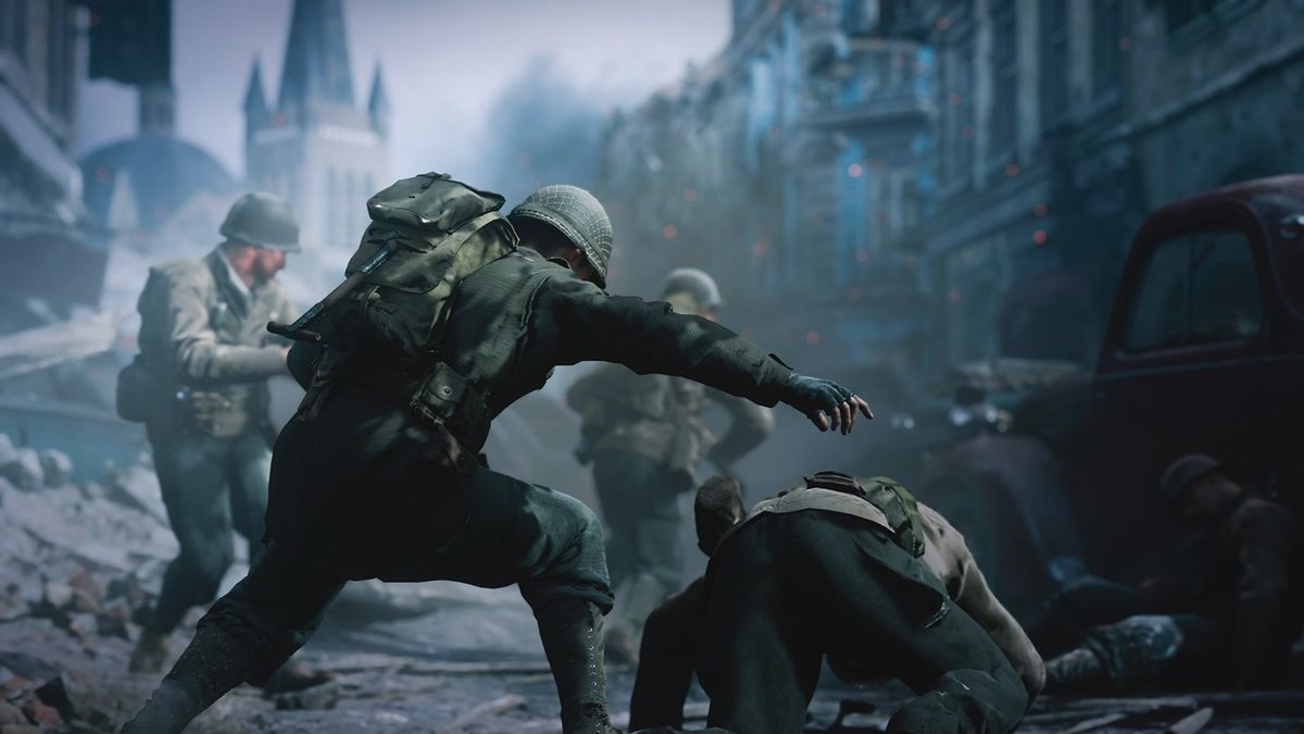 Call of Duty WW2; voják; bitva