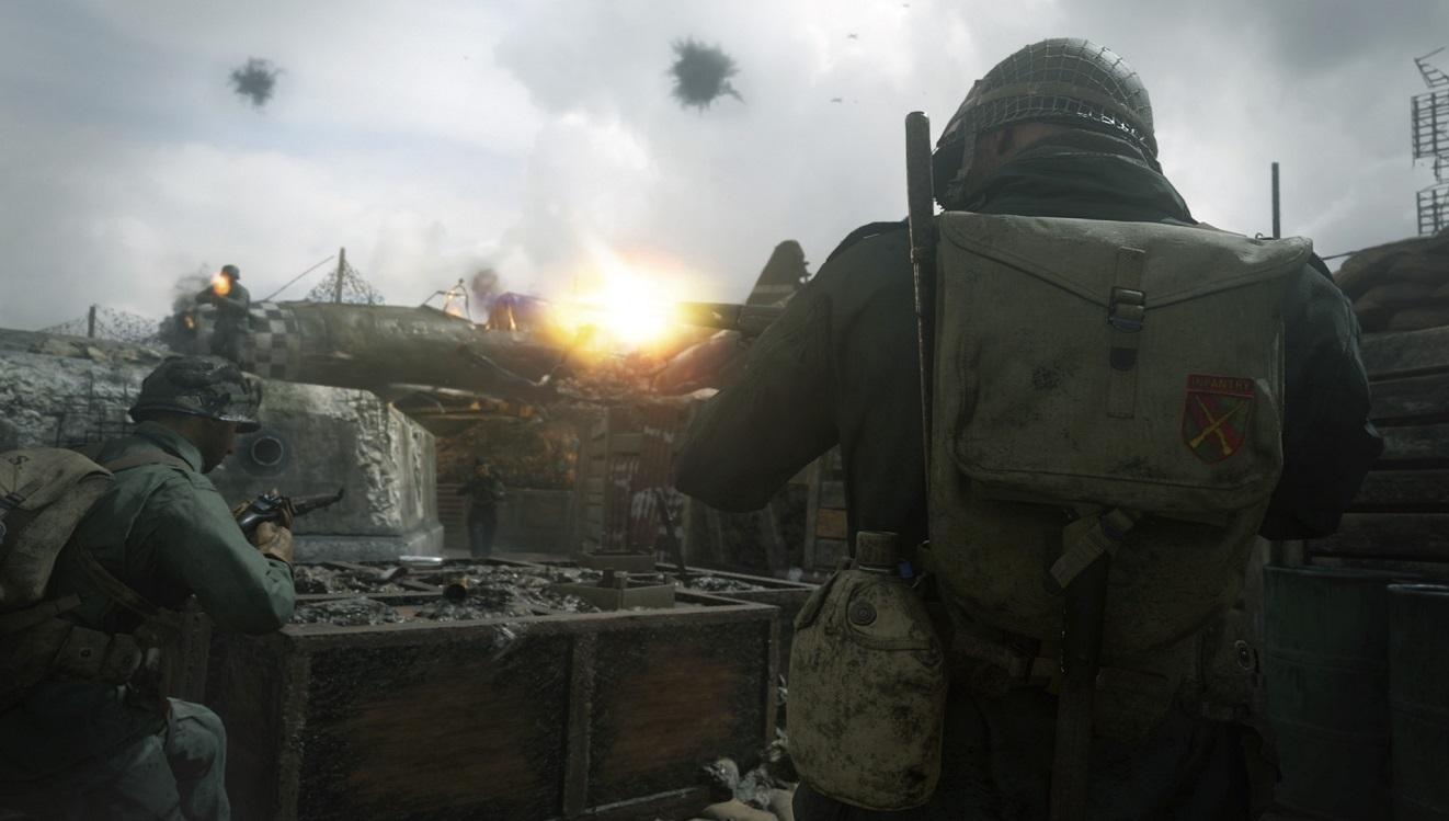 Call of Duty WW2; zakopy, vojaci, gameplay
