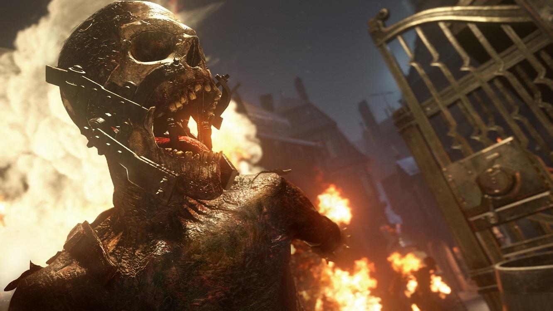 Call of Duty: WW2; zombie, plameny